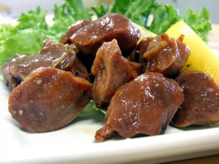 砂肝塩胡椒焼き