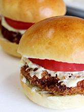 比内地鶏バーガー