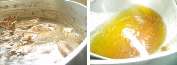 たっぷりのストレートスープ